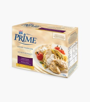 Maple Leaf Prime® Chicken Tenderloins -Creamy Parmesan with a packet of Herb Alfredo Finishing Sauce
