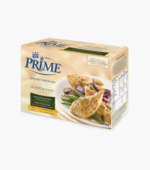 Maple Leaf Prime® Chicken Tenderloins - Roasted Garlic and Herb with a packet of Italian Finishing Sauce
