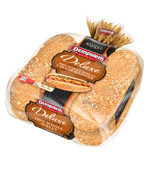 Dempster's Deluxe® 100% Whole Wheat Sausage Buns 6