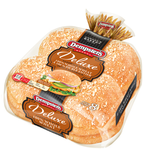 Dempster's Deluxe® 100% Whole Wheat Hamburger Buns 8
