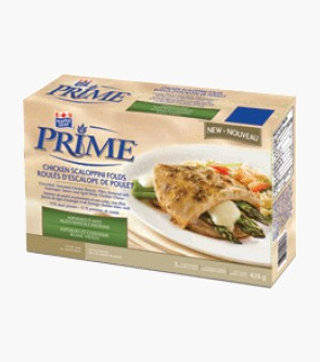Maple Leaf Prime® Chicken Breast Scaloppini Folds - Asparagus and Aged White Cheddar