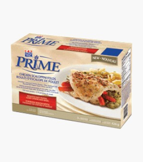 Maple Leaf Prime® Chicken Breast Scaloppini Folds – Roasted Red Pepper, Goat Cheese and Basil