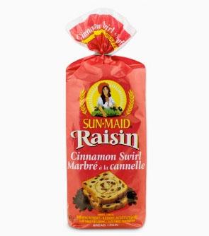 SUN·MAID® Raisin with Cinnamon Swirl Bread