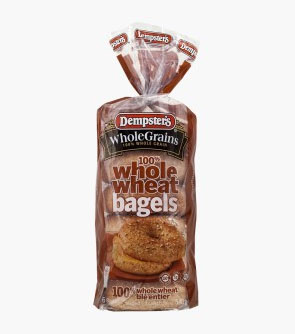 Dempster's® WholeGrains™100% Whole Wheat Bagels