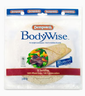 Dempsters BodyWise 100% Whole Grain Tortillas