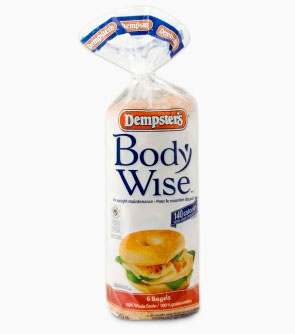Dempsters BodyWise 100% Whole Grain Bagels
