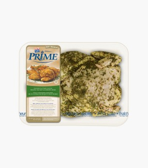 Maple Leaf Prime® Seasoned Flattened Chicken (Whole Chicken with Back Removed) Pacific Sea Salt & Garden Herb