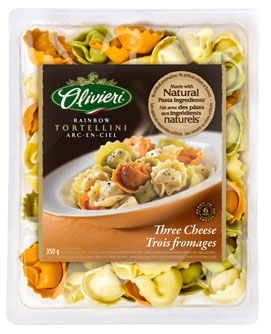Olivieri® Rainbow Tortellini with Three Cheese 350 g or 700g